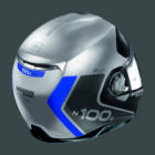 Nolan N100-5 PLUS DISTINCTIVE - ezüst