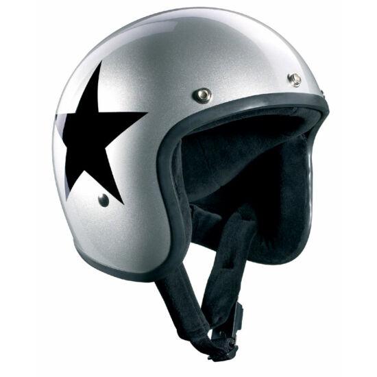 Bandit sisakok - Nyitott sisakok - SilverStar Jet - ezüst/fekete csillag