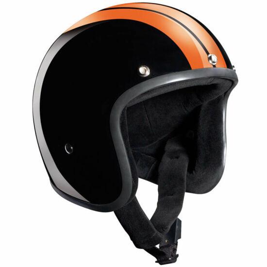Bandit sisakok - Nyitott sisakok - Race Jet - fényes fekete/narancs