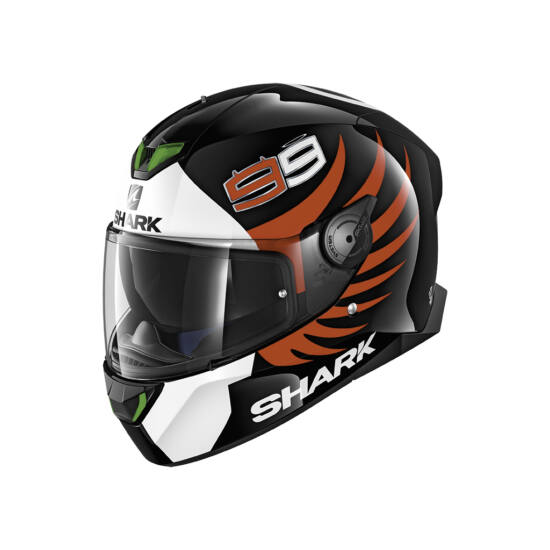 Shark bukósisak - Skwal 2 - Beépített LED világítással - Lorenzo - 4940-KWR