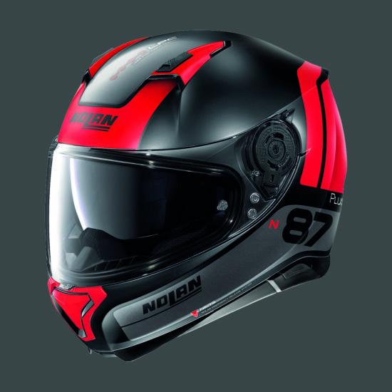 Nolan N87 PLUS DISTINCTIVE - fekete-piros