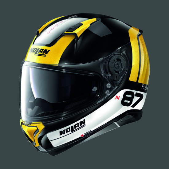 Nolan N87 PLUS DISTINCTIVE - fekete-sárga-fehér