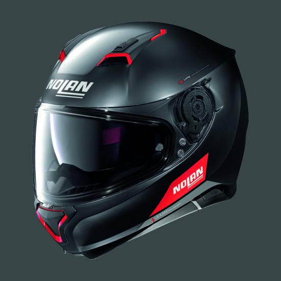Nolan N87 EMBLEMA - fekete-piros